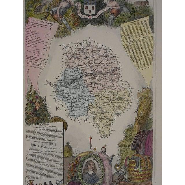 Image of Antique Map Provinces France Engraving
