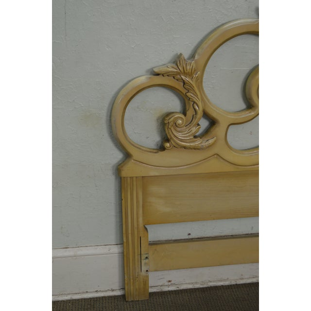 Vintage Queen Size Painted Rococo Style Headboard - Image 5 of 10