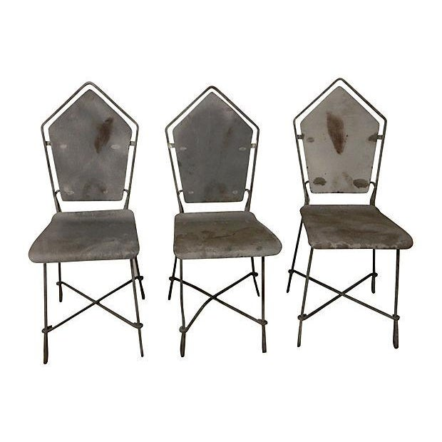 French Art Deco Iron Garden Chairs - Set of 6 - Image 2 of 6