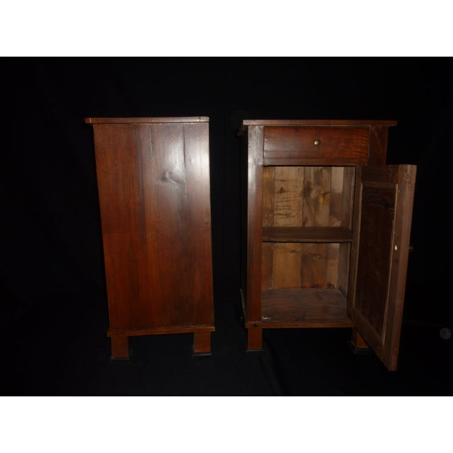 Italian Walnut Nightstands - A Pair - Image 4 of 4