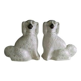 Staffordshire Spaniel Figurines - A Pair