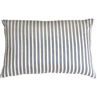 Pillow Decor - Catalina Ticking Blue 16x24 Pillow