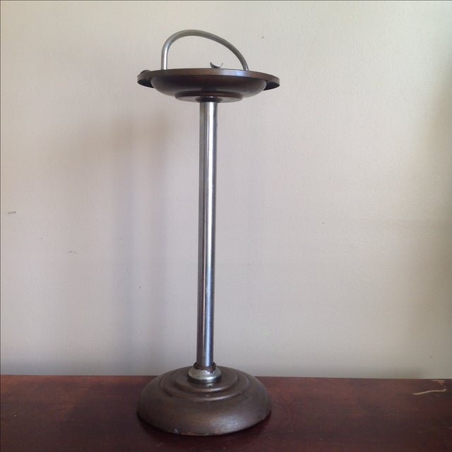 Mid-Century Pedestal Ashtray Stand - Image 2 of 7