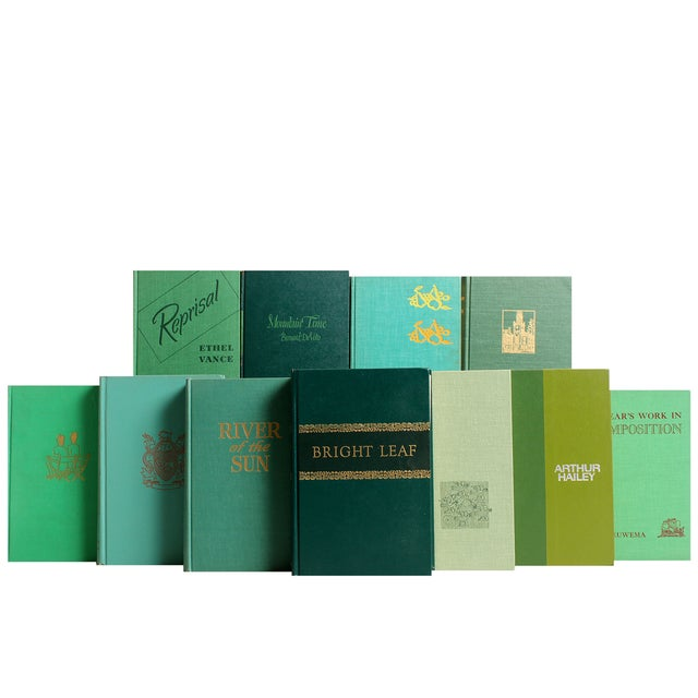 Mid-Century Green Book Wall - S/50 - Image 2 of 2