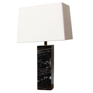 Nessen Studios Black Marble Table Lamp