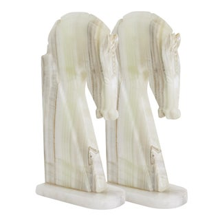 White Onyx Bookends - Pair