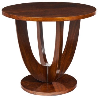 1930 French Art Deco Mahogany Gueridon Table