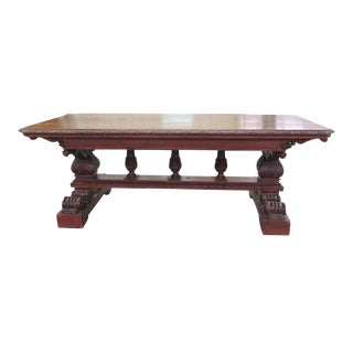 19th Century Carved Walnut Dining Table