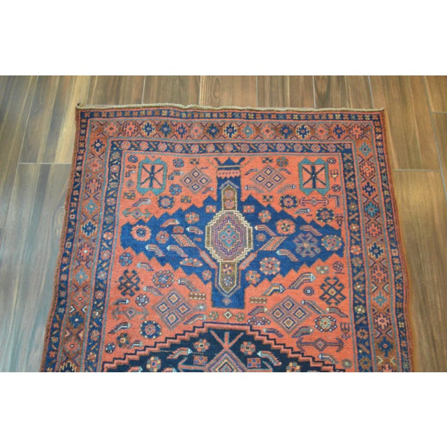 "Antique Persian Bidjar Long Rug - 4'5"" x 8'3"" - Image 6 of 9"