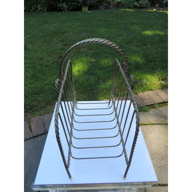 Vintage Twisted Metal Magazine Rack - Image 4 of 4