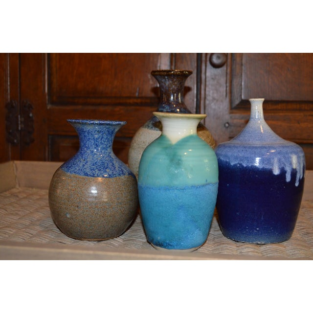 Collection of Drip Glazed Ceramic Vases - Set of 4 - Image 3 of 9