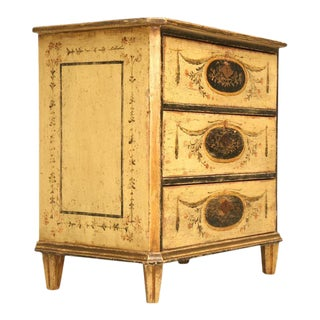 Original Paint Continental Commode Featuring Cameos, 1880