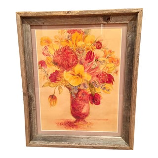 Vintage Floral Watercolor Still Life