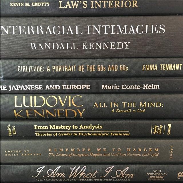 Image of Black Decorative Books - Set of 10