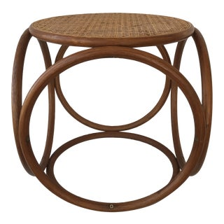 Vintage Caned Bentwood Ottoman