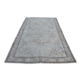Beige Handmade Wool Floor Rug - 5′9″ × 9′2″