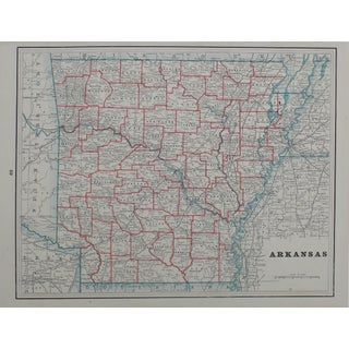 1895 Arkansas Map Lithograph