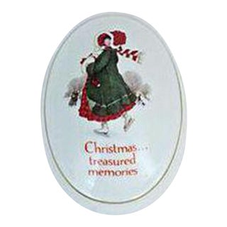 Porcelain Christmas Keepsake Box