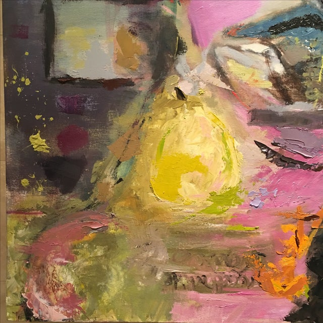 JJ Justice Abstract Oil Painting - Image 4 of 7