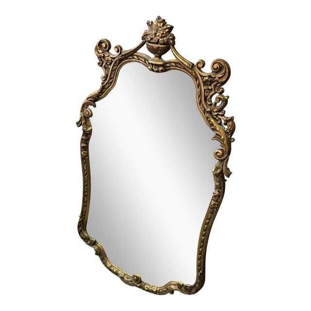Vintage Large Gold Gilt Mirror - Image 1 of 6