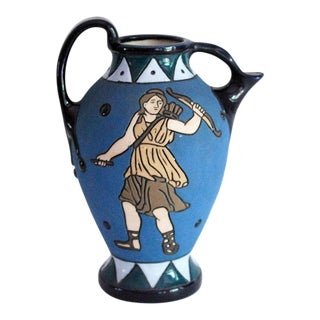 Greek Revival Czech Amphora Pitcher / Vase