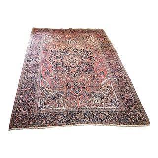 Pink Vintage Persian Rug - 8′6″ × 11′9″