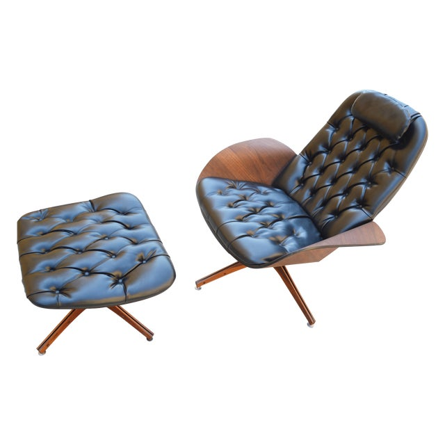 Plycraft Lounge Chair & Ottoman, George Mulhauser - Image 1 of 10