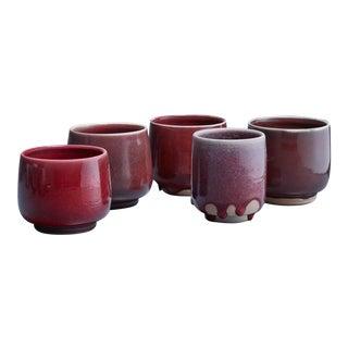 Rolf Palm set of five ceramic vases, Sweden, 1990s