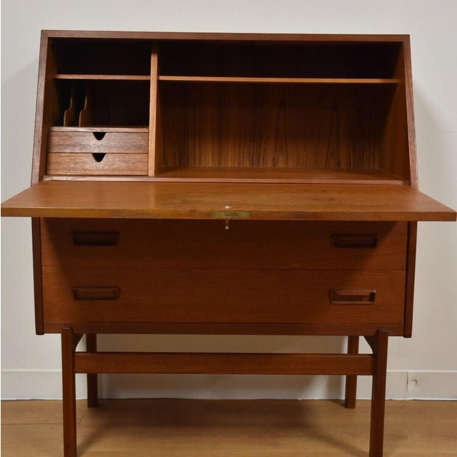 Danish Teak Secretary Desk - Image 4 of 10