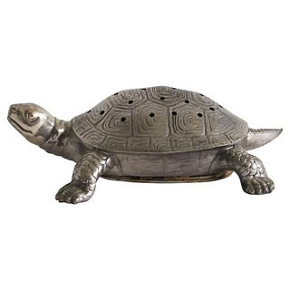Silver-Plated Turtle Figure