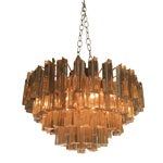 Image of Murano Flush Mount Prism Chandelier