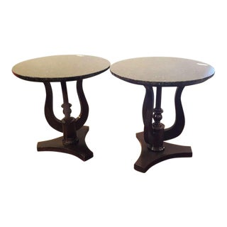 Marble Top End Tables - A Pair