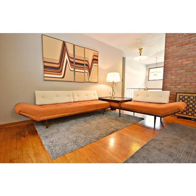 Mid-Century Three-Piece Sectional Sofa - Image 9 of 10