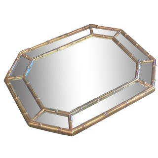 Octagonal Faux-Bamboo Chinoiserie Mirror