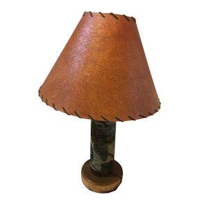 Fishing Cabin Lamp with Handmade Shade