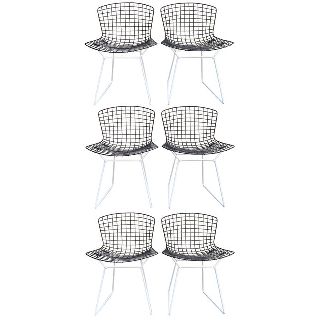 Harry Bertoia for Knoll Wire Chairs - Set of 6 - Image 1 of 8