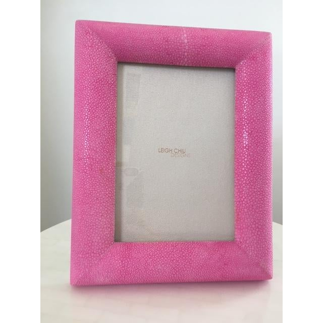 Hot Pink Shagreen Frame - Image 2 of 5