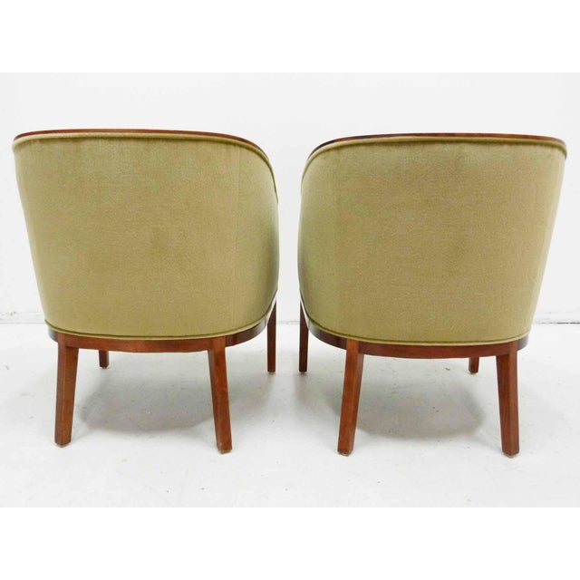 Ward Bennett Mohair Club Chairs - Pair - Image 4 of 10