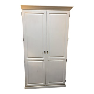 White Two Door Office Armoire