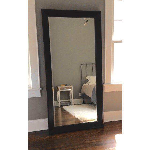 Crate Barrel Black Floor Mirror Chairish