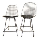 Image of Modernica Counter Height Wire Stools - A Pair