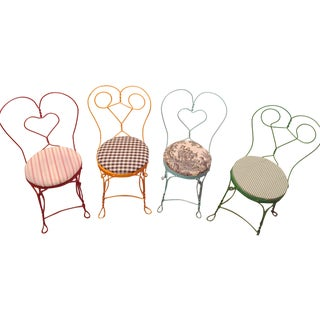 Vintage Shabby Chic Chairs - Set of 4