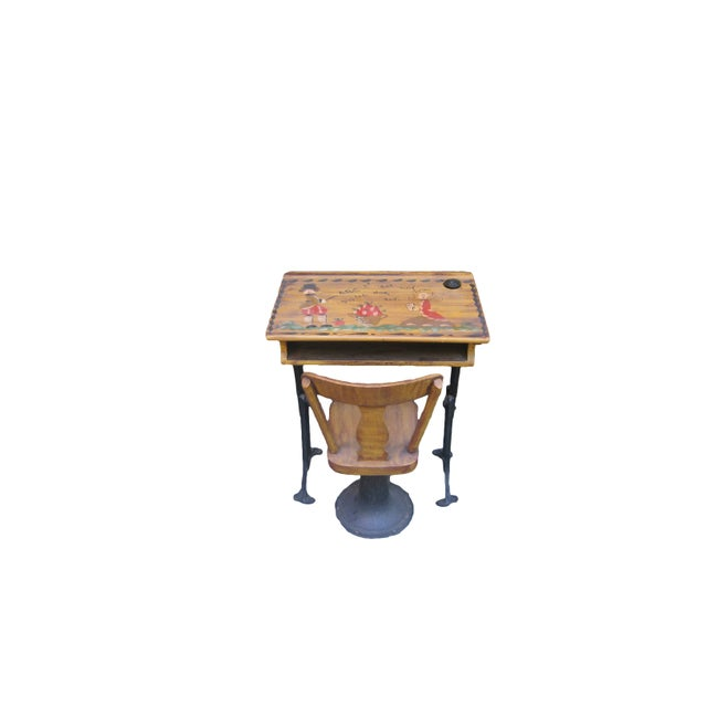 Antique Chandler Adjustable School Desk - Image 4 of 5