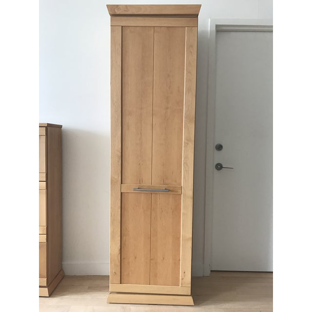 Image of Tall Alder Wood Entryway Armoire