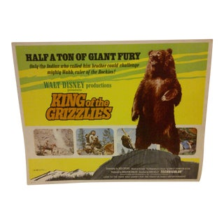 """Vintage Movie Poster """"King of the Grizzlies"""" Walt Disney Productions - 1970"""
