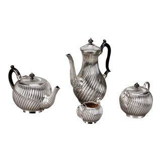 Art Deco English Silver Plate Coffee & Tea Service - 4 Pieces