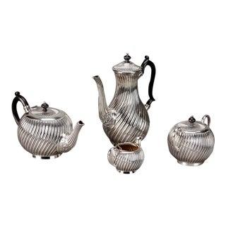 Art Deco English Silver Plate Coffee & Tea Service - 4 Pieces