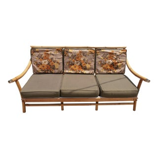 Vintage 3-Seater Bamboo Sofa