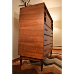 Image of Mid-Century Rosewood Highboy Dresser