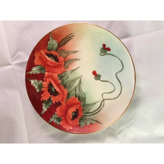 Limoges France Decorative Poppy Plate - Image 2 of 8